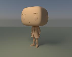 Custom Pop Girl Dressed No Hair DIY Figure 3D Print