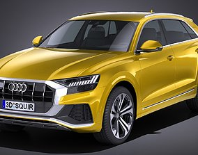 LowPoly Audi Q8 S-line 2019 3D model