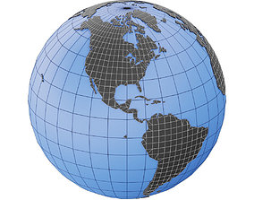 3D asset Earth Globe Mesh