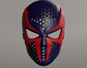 Spiderman 2099 face shell 3D printable model