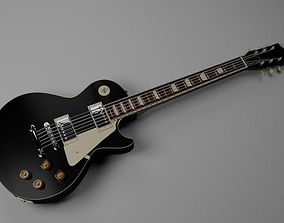 music Gibson Les Paul Guitar 3D model