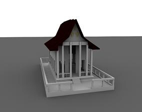temple monastery 3D asset VR / AR ready