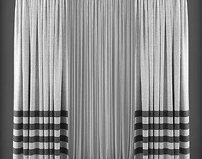 VR / AR ready Curtain 3D model 135