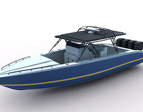 traffic 3D model Midnight Express Powerboat
