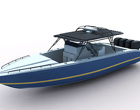 3D model Midnight Express Powerboat