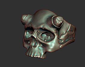 Skull ring bikers 3D print model