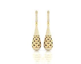 delicate printable Women earrings 3dm render detail