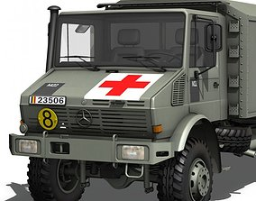 Mercedes Benz Unimog - Belgian Ambulance 3D model
