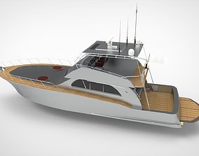 Luxury Yacht 72ft 3D model