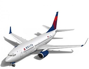 3D Delta Airlines Boeing 737-700w flight