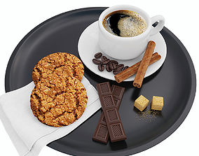 3D Coffee and cookies