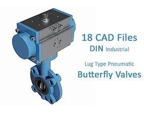 Lug Type Pneumatic Butterfly Valves - DIN PN16 - 3D model