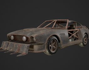 Post Apocalyptic Car 3D model realtime