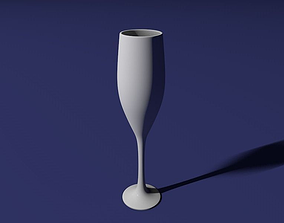 Champagne glass 3D printable model