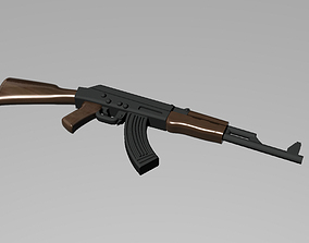 AK-47 assault rifle 3D printable model