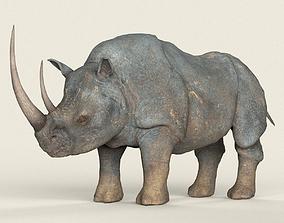 Low poly Realistic Rhino 3D model