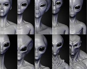 3D Realistic Aliens Sculpts Full Pack