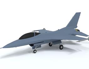 3D model Low Poly Cartoon F-16c Fighting Falcon