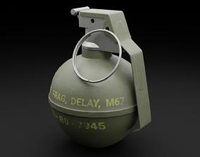 Game Ready Hand Grenade 3D asset