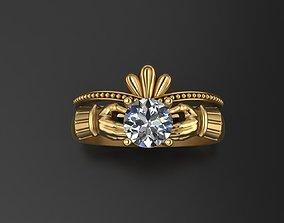 Claddagh ring 3D print model