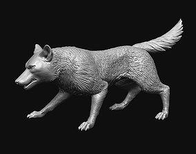 3D print model Growling Wolf