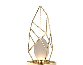 3D model Lamp Lucia Tucci Naomi T4750-1 Gold