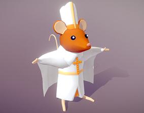 Lowpoly Dorime Rat 3D asset