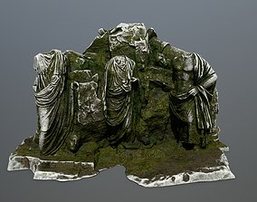 3D asset game-ready statue mountain