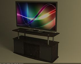 Television and Stand 3D