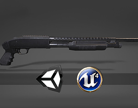 3D model Mossberg Shotgun - PBR Weapon and Game Ready