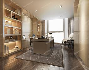 curtain 3D modern luxury study working room