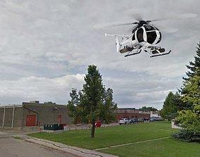 3D asset Little Bird Attack Helicopter