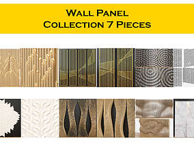 3D Wall Panel Collecyion 7 pieces furniture