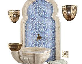 3D model sauna Decorative set for the Turkish bath 02