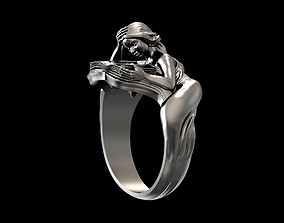 Ring girl with book 3D print model