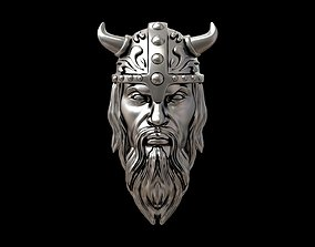 Viking head necklace 3D printable model