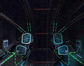 VR / AR ready 3DRT - Sci-Fi Spacecraft Cockpit 3