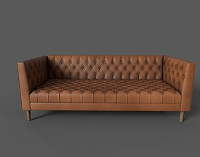3D Chesterfield Leather Sofa