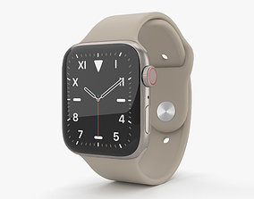 3D Apple Watch Series 5 44mm Titanium Case with Sport Band