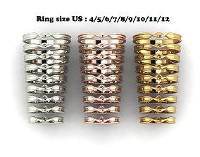 3D print model mobius style wedding ring