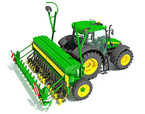 3D harrow Tractor with Seed Drill