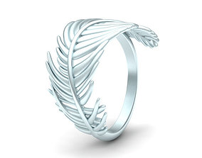 Jewelry Feather ring 3D printable model