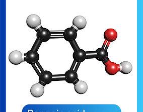 Benzoic acid 3D Model C7H6O2