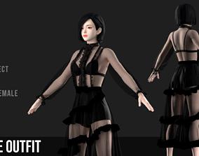 fashion Dress Marvelous Designer Project 3D model