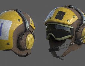 3D model US NAVY Flight Deck Crew Helmet