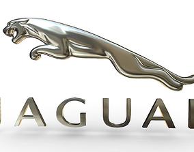 Jaguar logo jaguar 3D model