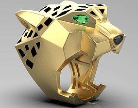 ring female cheetah 3D print model