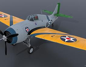 GRUMMAN F4F-3 WILDCAT VF41 - 41F7 3D rigged