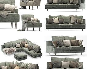 3D Roche Bobois sofa set green