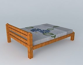 3D Modern cot in traditional style